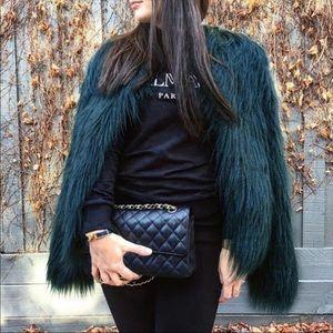 Jackets & Blazers - Black Fall Faux Fur Coat Women Outerwear Jacket SM
